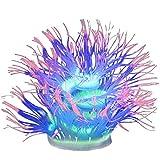Zonster Resplandor Coral Fish Tank Decorations Silica Aquarium Plantas Brillante En Decoraciones del Tanque De Peces Oscuras Adornos De Acuario