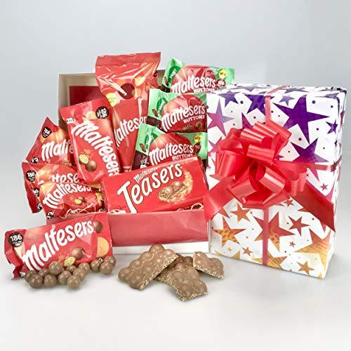 Maltesers - Scatola per cesta regalo, motivo: femminile o maschile, confezione regalo