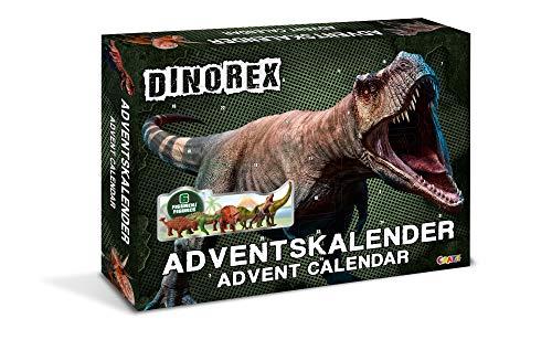 CRAZE Adventskalender DINOREX Dinosaurier 2019 Weihnachtskalender für Jungen Spielzeug Kalender tolle Inhalte 13823