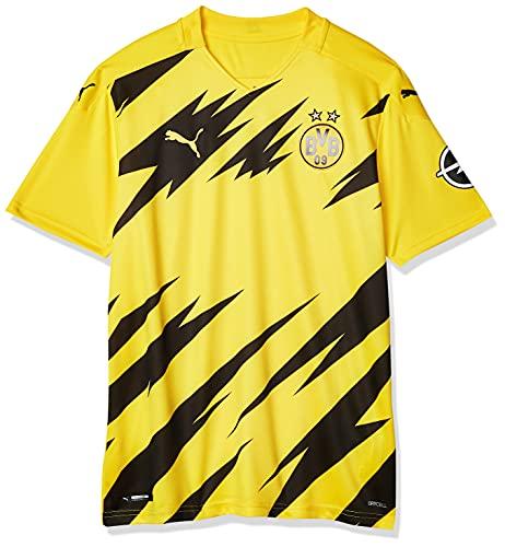 PUMA Borussia Home 20-21 - Camiseta para hombre, Amarillo, Large