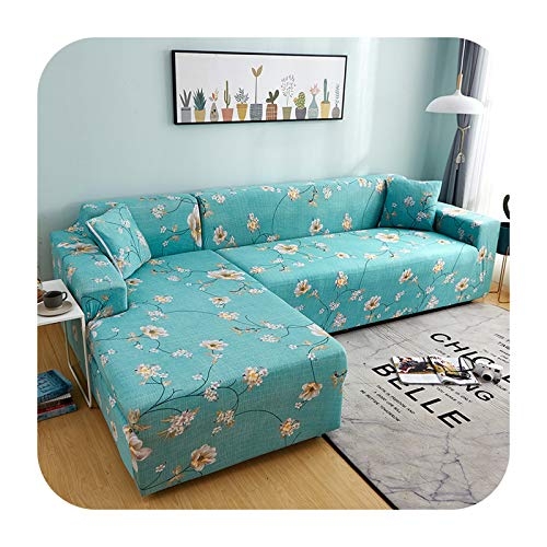 Fastty Stretch Sectional Corner Sofa Cover Chaise Longue Chair 2 3 Seater L Shape Covers for Couch Protection Extensible Elastic-SMSC002-4-seater 240-300cm