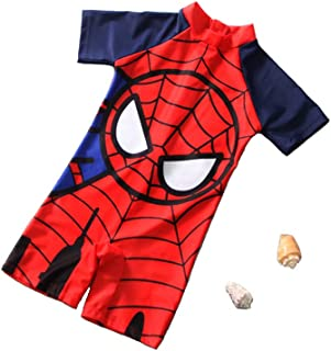 Spiderman Swimsuit,One Piece Spider-Man Swimsuit for Boys