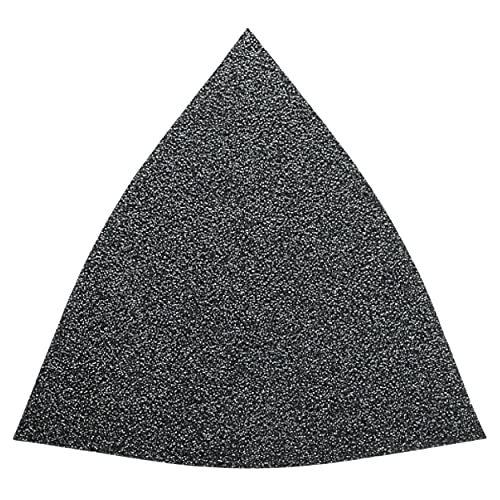Fein MultiMaster Vacuum Sanding Sheets with Hook and Loop Attachment - Unperforated, 100 Grit, 50-Pack - 63717084013