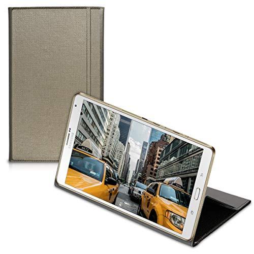 kwmobile Flip Hülle Hülle kompatibel mit Samsung Galaxy Tab S 8.4 T700 / T705 - Standfunktion Tablet Kunstleder Tasche Kupfer