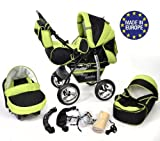 Kamil - Sistema de viaje 3 en 1, silla de paseo, carrito con capazo y silla de...