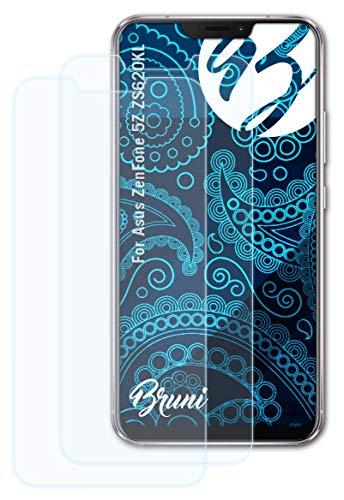 Bruni Schutzfolie kompatibel mit Asus ZenFone 5Z ZS620KL Folie, glasklare Bildschirmschutzfolie (2X)