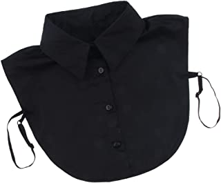 Cuello Falso de Algodón Desmontable Dickey Collar Blusa Ropa Buenos Adornos para Suéteres Vestidos Uniformes