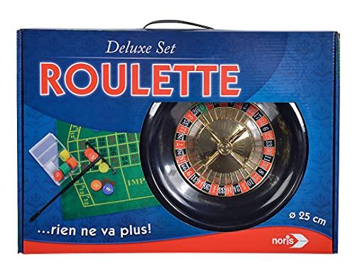 Noris 606104613 Deluxe Set Roulette – mit 2 Stahlkugeln, 60 Jetons und weiterem Zubehör für ein echtes Casino Feeling, ab 6 Jahren