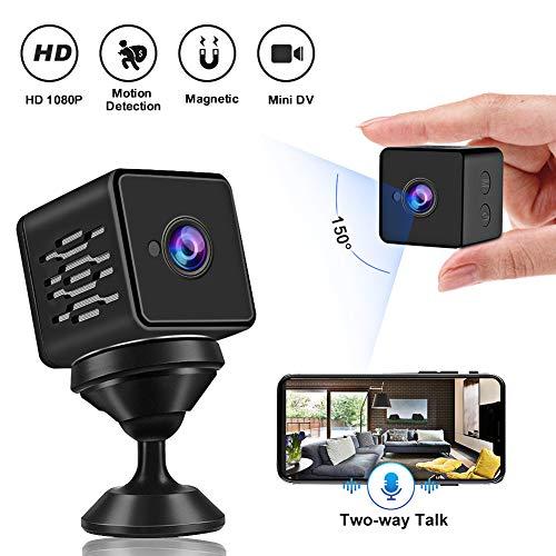 Mini Cámara Espía, WZTO Cámara Oculta con Sensor Movimiento y Visión NocturnaWiFi HD 1080P Cámara Vigilancia inalámbrica Portátil Camara de Seguridad para Interiores y Exteriores