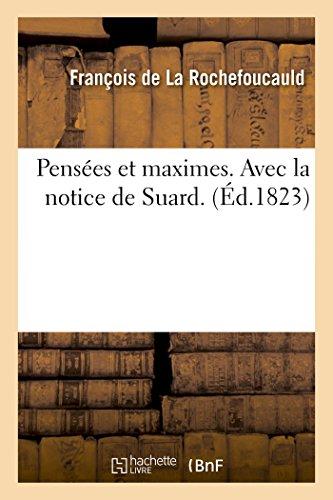 Rochefoucauld, F: Pens�es Et Maximes. Avec (Littérature)