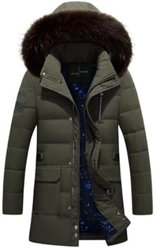 YANXH Vêtements d'hiver Nouveau Produit Homme vers Le Bas Veste Longue Section Plus épais Manteau