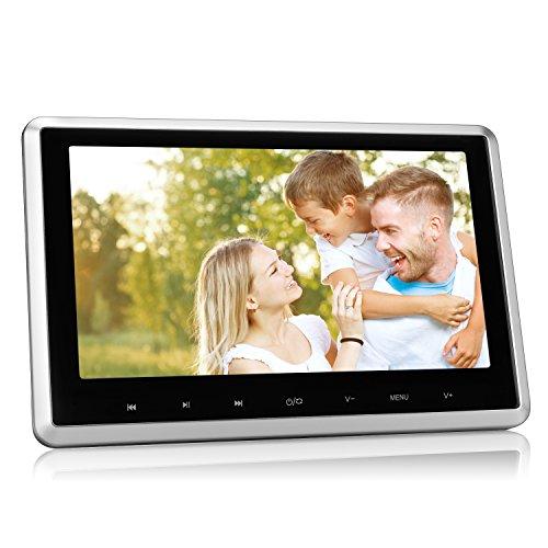 """NAVISKAUTO 10,1"""" DVD Player HD Kopfstütze Monitor Auto TFT LCD Bildschirm 1080P 30Fps Video/ HDMI Funktion/ USB Speicher/ SD Karte Schwarz+Silber Rahmen CH1003B"""