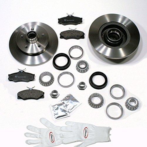 Autoparts-Online Set 60004075 Bremsscheiben/Bremsen + Bremsbeläge + 2 x Radlager vorne