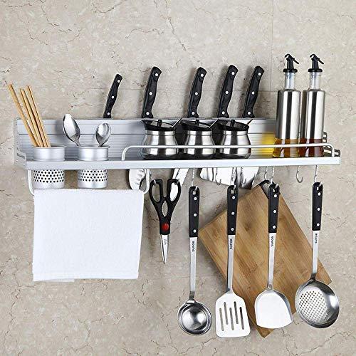 Estante de Cocina de Herramientas de Pared de Aluminio Multifuncional