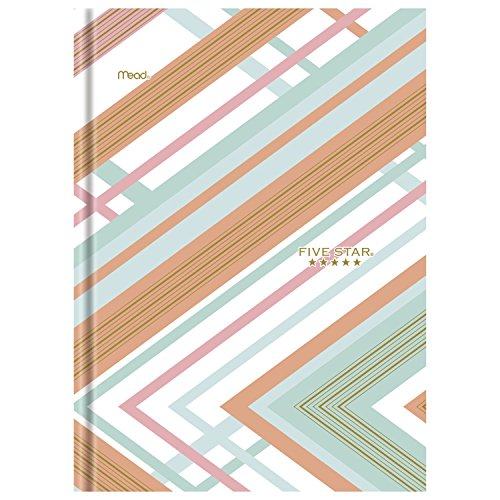 Five Star Composition Book/Notebook, College Ruled Paper, 100 Sheets, 9-7/8' x 7-1/2', Hardbound Style, Interrupt Coral (09274BM8)