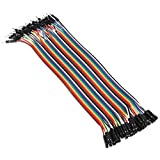 Ganvol 40 Cables Flexibles de 20 cm Macho a Hembra sin Soldadura para Arduino, Raspberry Pi Modelo A / Modelo B 1 1+ 2 3 / módulo de computadora / Zero