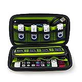 Estarer USB Flash Drives Organizer, Digital Gadget Case Waterproof SD Memory Card Case,Designed for External Hard Drive,CF Card Traveling