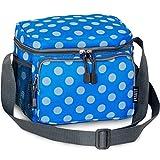 Everest Cooler Lunch Bag,OneSize,Blue Dots