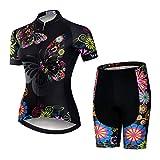 Weimostar - Maglia da ciclismo da donna, a maniche corte, per mountain bike, per bici da corsa, per MTB, Donna, 11, M = Brust 82-86 cm