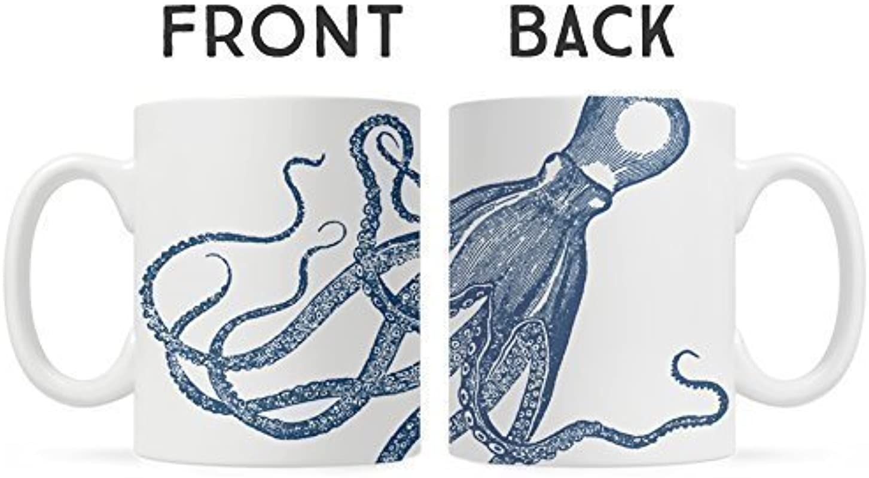 Nautical Sea Life Octopus Kraken Coffee Mug Unique Fun Mugs Gift For Dad Boyfriend Friend Coworker
