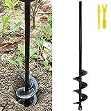 Broca de barrena en espiral para jardín 4x42 cm Broca para excavadora de jardín Broca para máquina de labranza de suelos Sinfín hexagonal