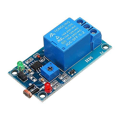 LICHONGUI Sensor de Resistencia fotosensible con módulo de relé módulo de Interruptor de Seguimiento de luz de Control óptico 5V