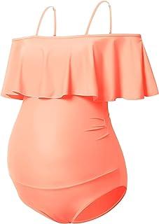 GINKANA Maternity Swimsuits Maternity Swimwear Womens Summer Bikinis Tankini Pregnancy Beachwear