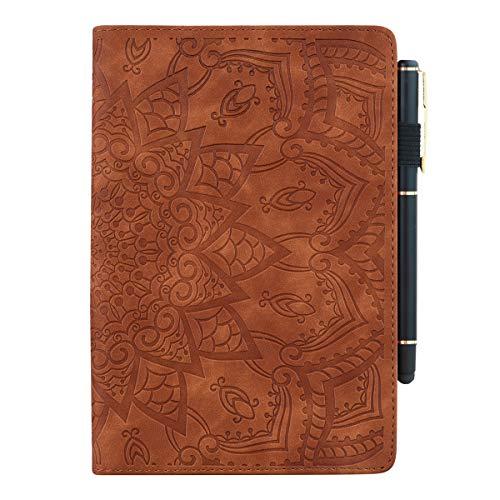 TXLING Coque pour Nouvelle Tablette Fire HD 8/Fire HD 8 Plus(2020), Flip Cover PU Cuir Housse Étui Case (avec Stylet Tactile) Marron