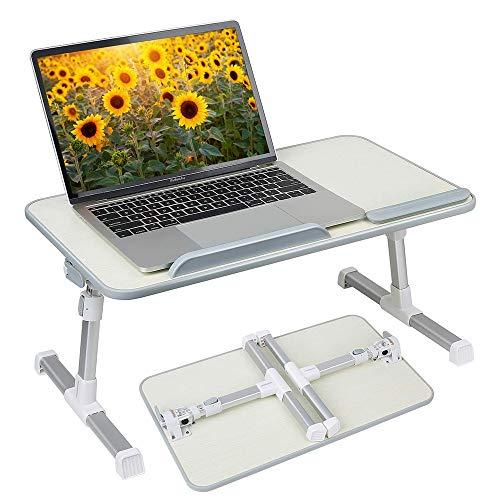 KTDZ Mesas De Ordenador PortáTil, Mesa MultifuncióN, Mesa para Computadora PortáTil Ajustable En Altura Y En áNgulo Ajustable Mesa De Cama para Computadora PortáTil LibreríA