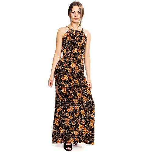 Samsoe & Samsoe Weide Lange AOP Womens Dress 5687 Black Bloom XS