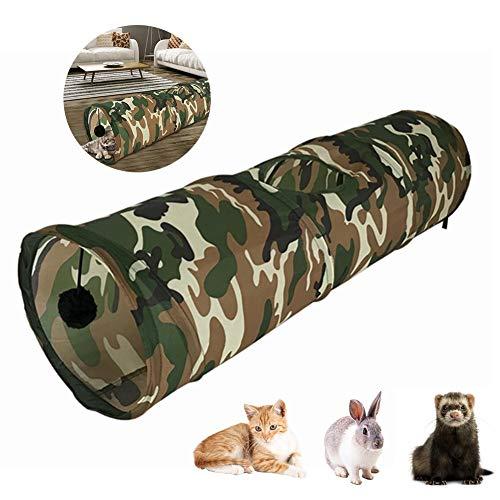 Draulic Katzenspielzeug Zusammenklappbarer Katzentunnel Spielzeug Haustier Spiel-Rohr für Kaninchen Kätzchen Frettchen Hunde