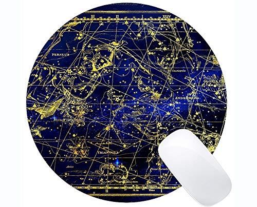 Runde Mausunterlage Rutschfest, Sternbild Perseus Andromeda Tierkreis-Themen der runden Gummimausunterlage