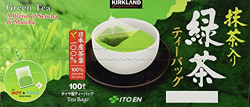 Kirkland Signature blend (Green Tea), 100% Japanese Green Tea Leaves, 25 Tea Bags