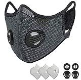 Maschere Antipolvere Doppio Maschera Riutilizzabile Respiratore/Carbone Attivo con filtro Extra...