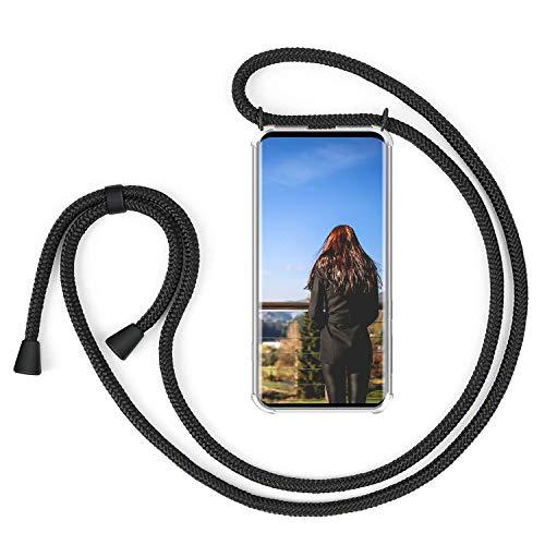 XCYYOO Handykette Handyhülle mit Band für Samsung Galaxy S10 Plus Cover - Handykette Handy Hülle mit Kordel zum Umhängen Handyanhänger Halsband Lanyard Case/Handy Band Halsband Necklace