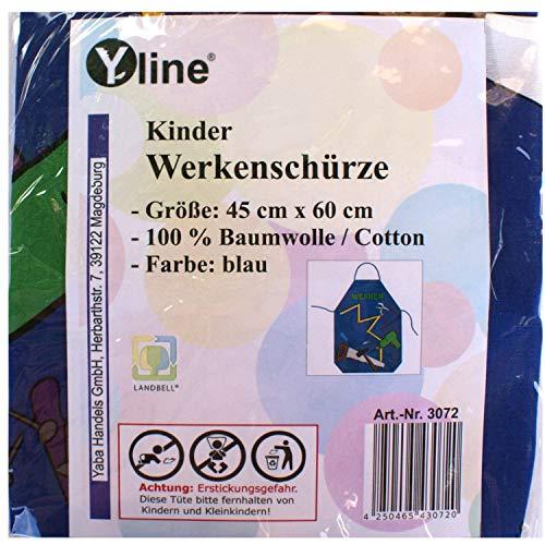 Yline 1 stuk kinderschort blauw Werken, kinderen knutselschort werkschort tuinschort, schort, 3072