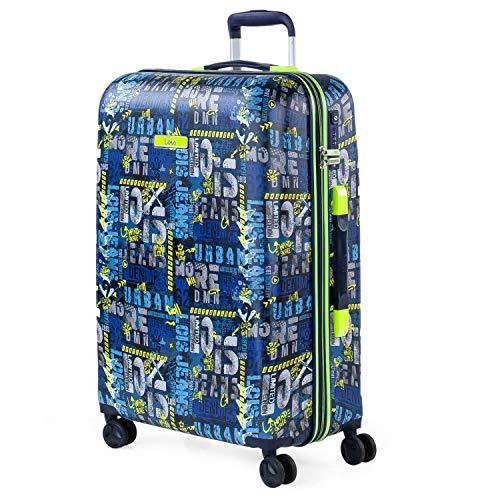Lois - Maleta de Viaje Trolley 66 cm Mediana abs Estampado y Texturizado. rígida, y Ligera. Mango telescópico, 2 Asas retráctiles. 4 Ruedas Dobles 131760, Color Marino