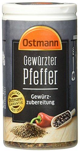 Ostmann gewürzter Pfeffer 40 g Gewürzubereitung aus kräftigem Pfeffer und aromatischem Paprika, Menge: 4 Stück