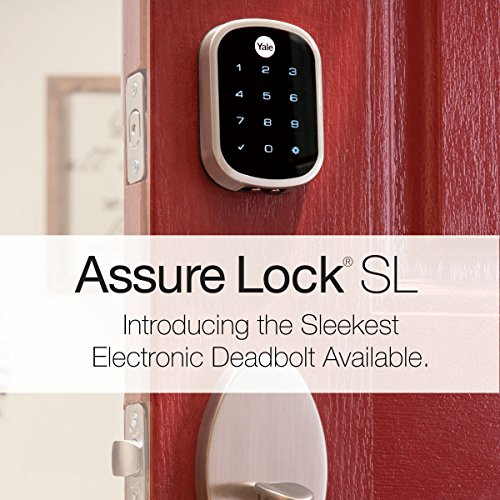 Yale Assure Lock SL with Z-Wave - Smart Key Free Touchscreen Keypad Deadbolt - Works with Ring Alarm, Samsung SmartThings, Wink, ADT and More - Satin Nickel