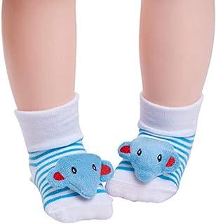 Bryights, Calcetines de bebé Calcetines de bebé recién nacido de algodón de dibujos animados calcetines de bebé antideslizante niños niñas calcetines zapatos botas niños ropa accesorios