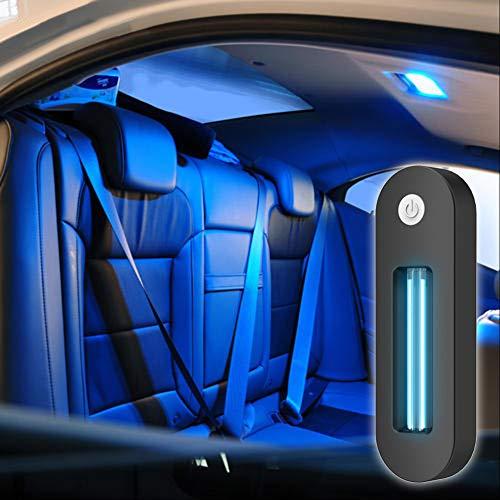 HOTEU UV-Desinfektionslampe USB Wiederaufladbare tragbare UV-LED-Desinfektionsmittel für den Innenraum Mini antibakterielle Rate 99% UV-keimtötende Lampe
