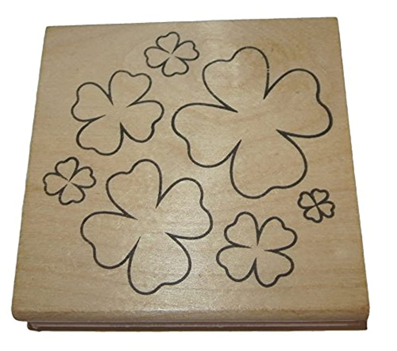 Clovers Rubber Stamp Wood Mounted 3