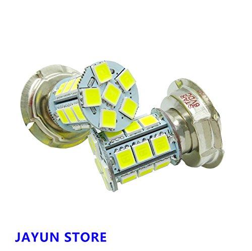 JAYUN P26S DC6V 24 SMD Moto Moto LED Ampoules Phare de Voiture Lampe pour Scooter Cyclomoteur Blanc 6000 K 15 W lot de 2