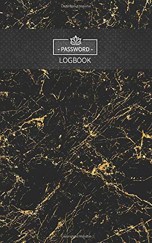 """My Password book (Gold Marble): Password Log book Classic Marble Frame 5"""" x 8"""" Alphabetical Pocket Size (Password Logbook)"""
