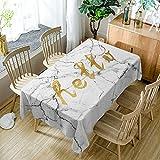 Mantel de Moda Simple Patrón de Rayas Blancas Mantel Lavable a Prueba de Polvo Algodón Decoración de Mesa de Banquete 140x220cm Estilo G