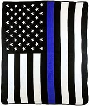 Best Flags FB-THINBLUELINE Thin Blue Line Blanket, 50x60in, Multi