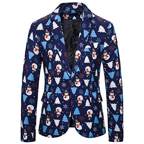 Sakko Herren Slim Fit Sakko Modern Blazer Herren Anzugjacke für Business