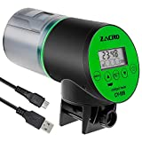 Zacro Automatic Fish Feeder - Rechargeable Timer Fish Feeder with USB Charger Cable, Fish Food...