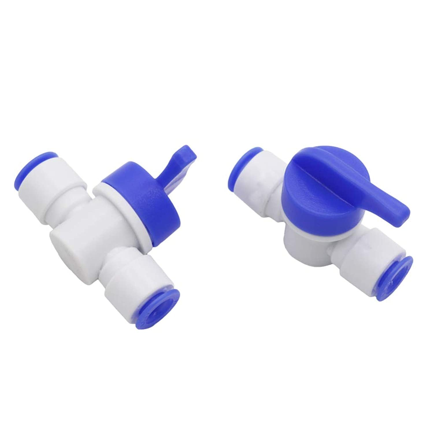 Slip Lock Quick-Connect   Ball Valve Pneumatic Pipe Connectors Fittings   Garden Irrigation Hose (4 Pcs, 1/4 Inch)