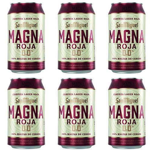 San Miguel Magna Roja 0.0% Alkoholfrei Bier. Dosen 330 ml. san miguel bier, biere der welt, bier set, bier dose (12 Dosen, 0.33 l)
